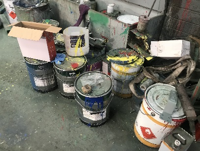 How can you put Paint in Skip Bins?