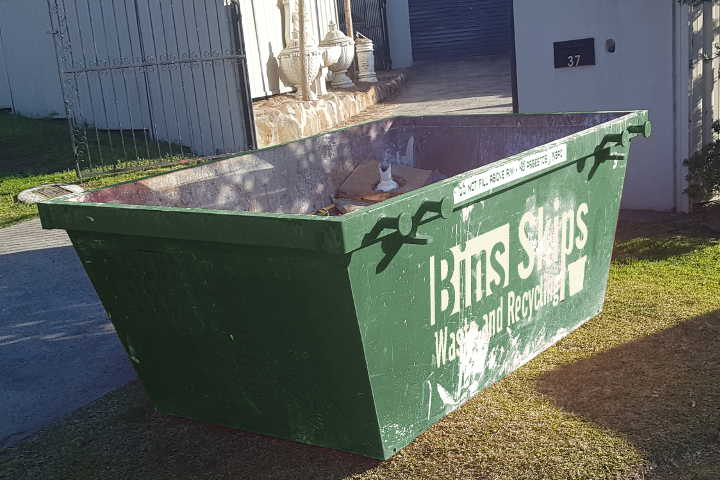 Glenwood Skip Bins come is all sizes from 2m³ to 20m³. This is 3m³.