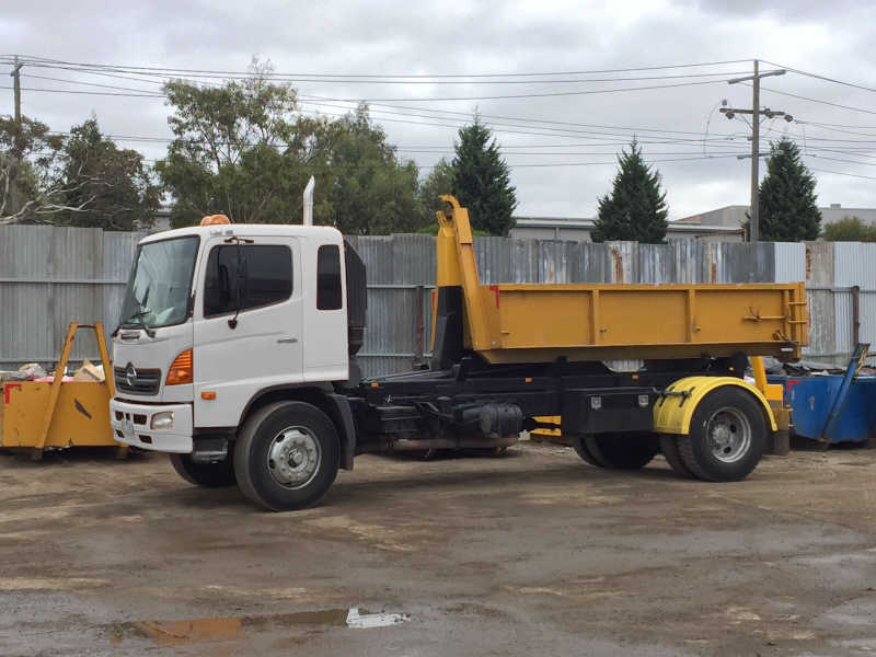 Hook-Lift Trucks ready to deliver hook lift bins in Lane Cove