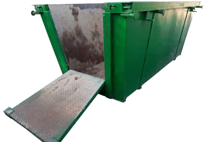 This 6.0m³ Skip Bin is equiped with a drop down door or ramp. Easy for loading with dirt or soil.