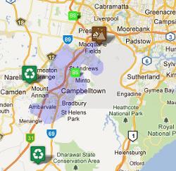 Skip Bin Service Area in Campbelltown