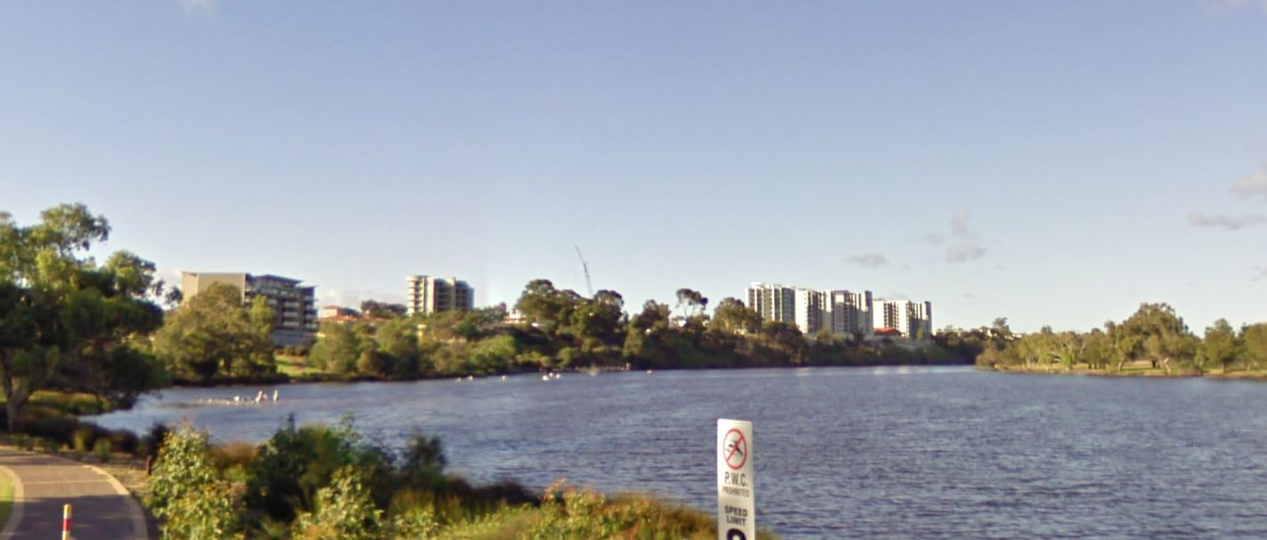 Looking Down the Swan River towards Perth