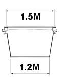Typical mini-skip width dimensions
