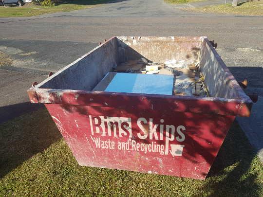 Sutherland Skip Bin Half Filled in Caringbah