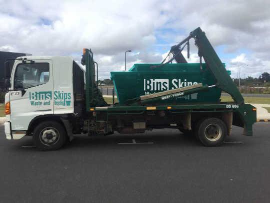 Yarra Ranges Skip Hire Truck with Skip Bins in Healesville