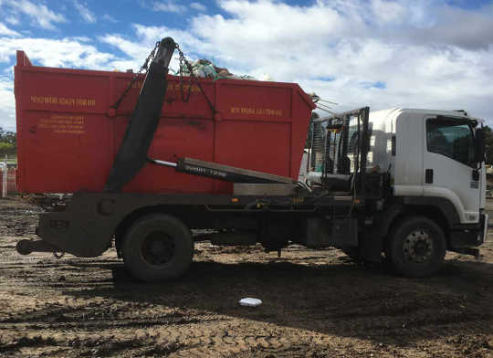 Melville Skip Bin Truck loaded and ready to go in Palmyra