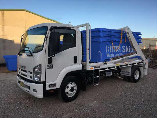 Caboolture Skip Bin Truck and Skip Bins