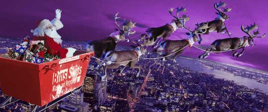 Santas Skip Bin Sleigh over Sydney